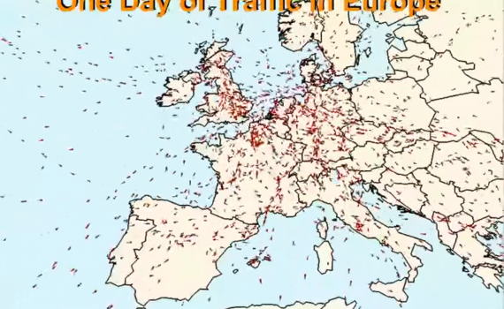 One Day of Traffic in Europe
